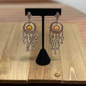 Waterfall Silvertone & Crystal Chandelier Earrings